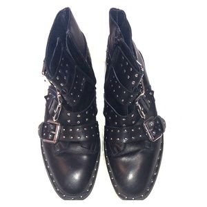 Topshop studded leather boots
